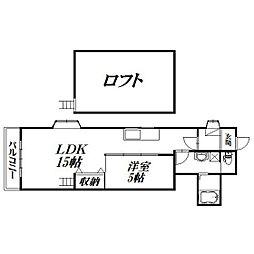 静岡県浜松市中区菅原町の賃貸アパートの間取り