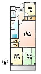 第2奥村マンション[3階]の間取り