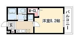愛知県名古屋市天白区野並3丁目の賃貸アパートの間取り