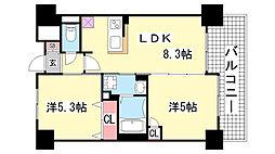 エステムプラザ神戸西4インフィニティ[8階]の間取り