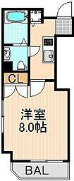 レオーネ綾瀬[5階]の間取り