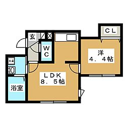 ブランノワール インセンス[3階]の間取り