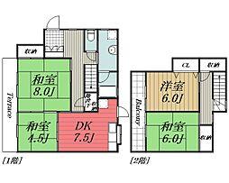 [テラスハウス] 千葉県印旛郡栄町安食3丁目 の賃貸【千葉県 / 印旛郡栄町】の間取り