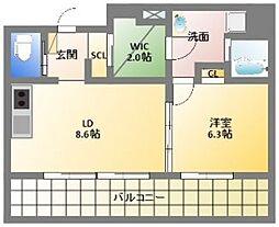 ルネ日本橋anhelo[15階]の間取り