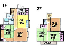 [一戸建] 愛媛県松山市西石井2丁目 の賃貸【/】の間取り