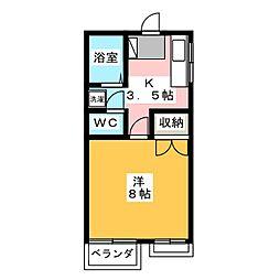 元今泉高橋コーポ第5[2階]の間取り