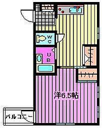 アトラクス東浦和[2階]の間取り