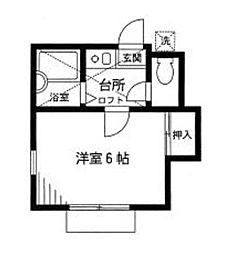 神奈川県相模原市南区若松3丁目の賃貸アパートの間取り
