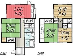 [一戸建] 千葉県四街道市めいわ5丁目 の賃貸【/】の間取り
