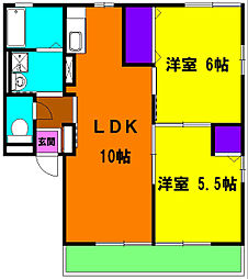 プロシードI[1階]の間取り