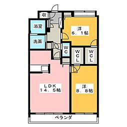 MapleI[3階]の間取り