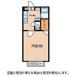 長野県諏訪市渋崎の賃貸アパートの間取り