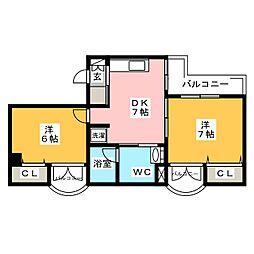 サンピア福岡[8階]の間取り