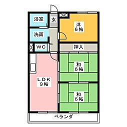 ハイネス石田[5階]の間取り