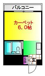 落合コーポ[3階]の間取り