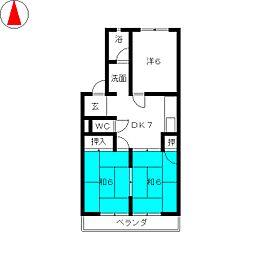 シャトー芝[4階]の間取り