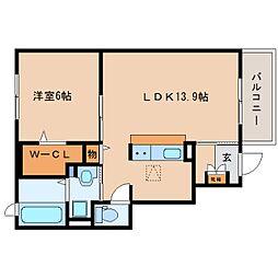 JR東海道本線 焼津駅 バス9分 縦小路柳屋本店前下車 徒歩2分の賃貸アパート 1階1LDKの間取り