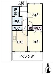 リンピア藤[2階]の間取り