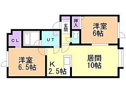Aoi House181 1階2LDKの間取り
