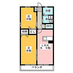 サンハイム桜花[2階]の間取り