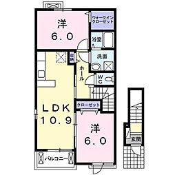 スカイッシュハウス  II[2階]の間取り