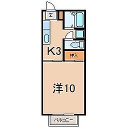 0043メゾン東浜[306号室]の間取り