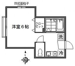 東京都大田区北馬込1丁目の賃貸アパートの間取り