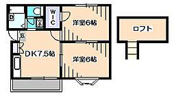 グリーンコテージNK[2階]の間取り