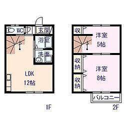 [テラスハウス] 栃木県栃木市大平町西野田 の賃貸【/】の間取り