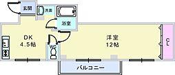 第1尾形マンション[2A号室]の間取り