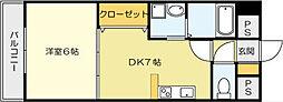 Bay Side Asano[308号室]の間取り