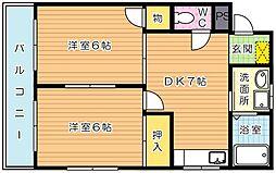 シャトレ東新町II[503号室]の間取り