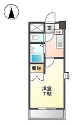 愛知県名古屋市北区金城町2丁目の賃貸マンションの間取り
