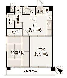 神奈川県横浜市神奈川区立町の賃貸マンションの間取り