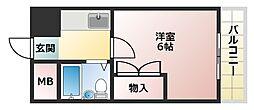 プレアール姫路龍野町[207号室]の間取り