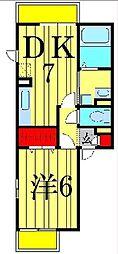 FLAT TENJIN[2階]の間取り
