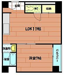 コーポ西村[4階]の間取り