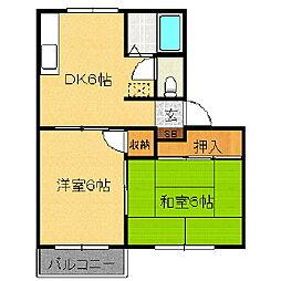 サンハイム中央C[1階]の間取り