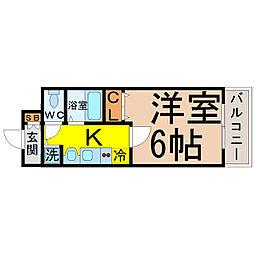 プレサンス新栄リミックス[507号室]の間取り