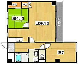 男山ヒルサイドビレッジ[2階]の間取り