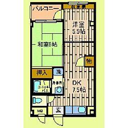 市ヶ尾森ビル五番館[205号室]の間取り