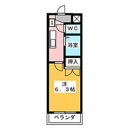 メゾンドマルキーズII[2階]の間取り