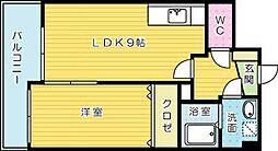 FORTUNATE砂津[501号室]の間取り