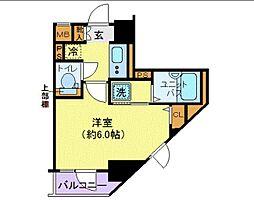 ハーモニーレジデンス御茶ノ水 5階1Kの間取り