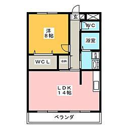 ベルフォーレ弐番館[2階]の間取り