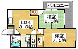 レジデンス今井2号館[3階]の間取り