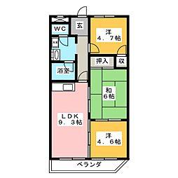 リリカル7[4階]の間取り