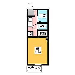 サンライズ国吉田[1階]の間取り