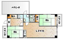 菊ヶ丘ハイツ[502号室]の間取り