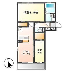 D−room横堀町 A棟[3階]の間取り